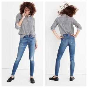 Madewell High Rise Skinny Jeans Allegra Wash Rip
